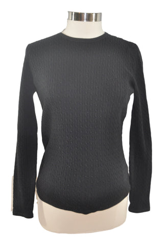 Black Cable Long Sleeve Sweater by Mimi Maternity