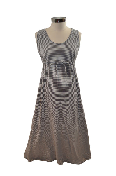 Gray & White Stipe Sleeveless Dress by Old Navy