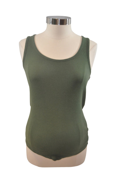 Green Ribbed Tank Top by Old Navy