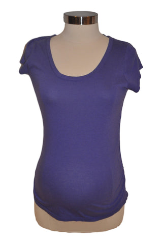 Purple Short Sleeve T-Shirt by Liz Lange