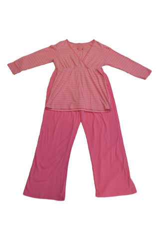 Pink Long Sleeve Nursing Pajama Set by Motherhood