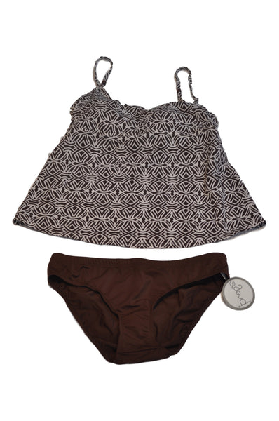 Brown & White 2-Piece Swimsuit by Motherhood