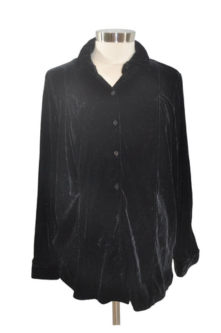 Black Velour Long Sleeve Top by Motherhood