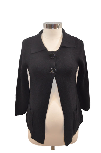 Black 2-Button Cardigan by Motherhood