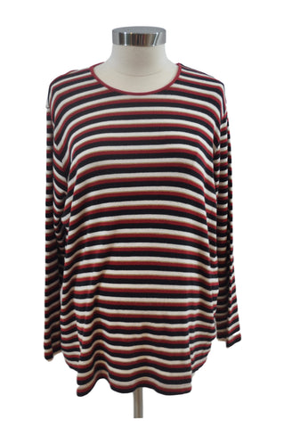 Red Stripe Long Sleeve Sweater by In Due Time