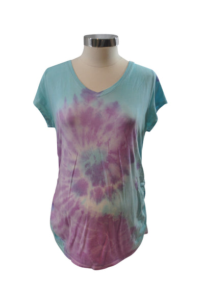 Blue & Purple Tie-Dye T-Shirt by Liz Lange