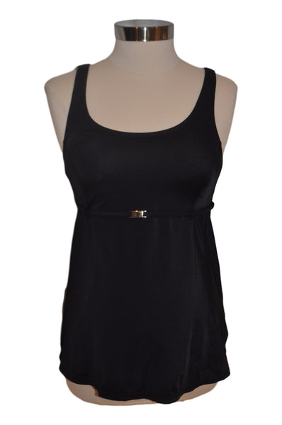 Black Tankini Swim Top by Motherhood