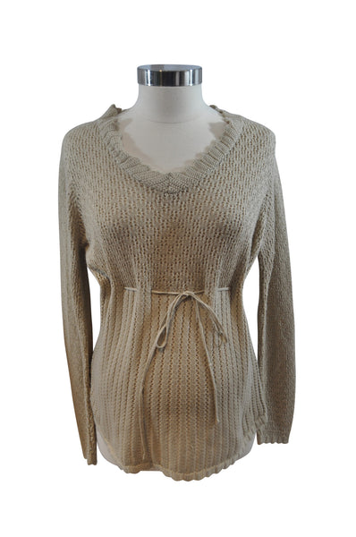 Beige Loose Knit Sweater by Motherhood