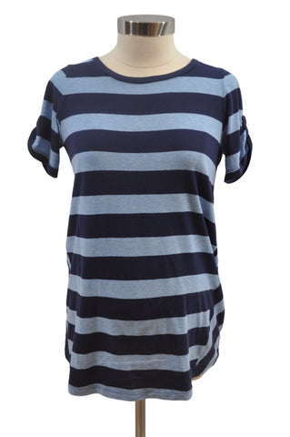 Blue Stripe Short Sleeve T-Shirt by SHADE