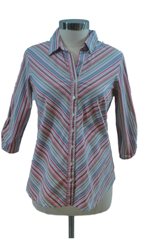 Multi-color Stripe Long Sleeve Top by Oh! Mama
