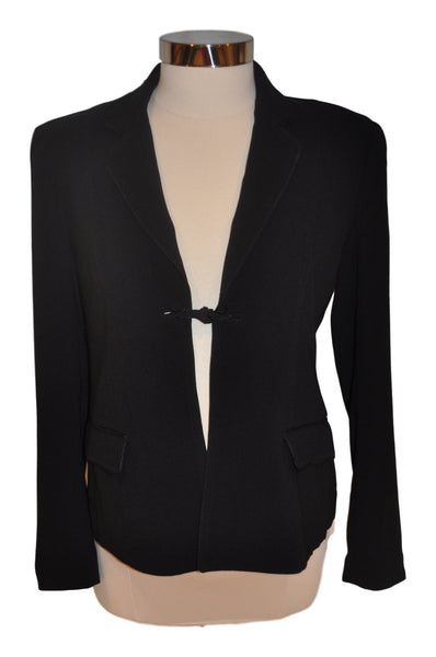 Black Tie Front Long Sleeve Blazer by A Pea In The Pod
