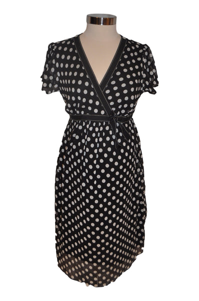Black & White Polka Dot Short Sleeve Dress by Motherhood *New With Tags*