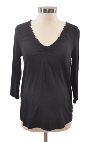 Black 3/4 Sleeve Top by Old Navy