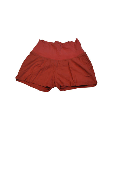 Red Linen Blend Shorts by Old Navy