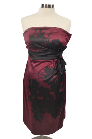 Burgundy Sleeveless Cocktail Dress by A Pea In The Pod