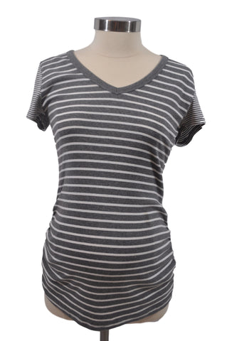 Gray & White Stripe Short Sleeve T-Shirt by OH BABY!