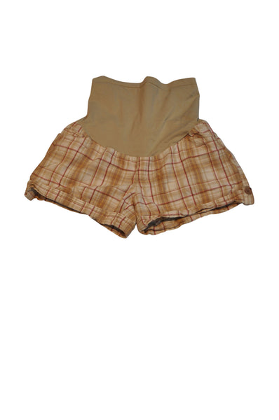 Tan Plaid Shorts by OH BABY!