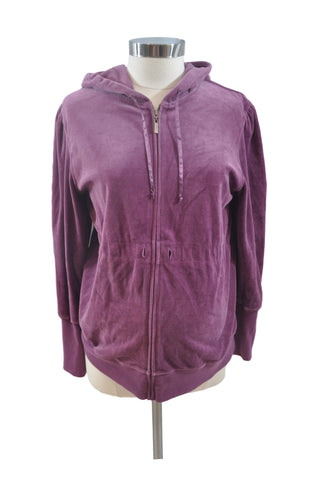 Purple Velour Sweatshirt by Liz Lange*