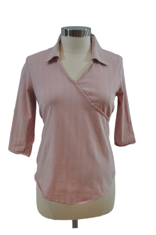 Pink & White Stripe Tunic Top by Crave Apparel