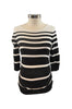 Black & White Stripe Elbow Sleeve Knit Top by Motherhood