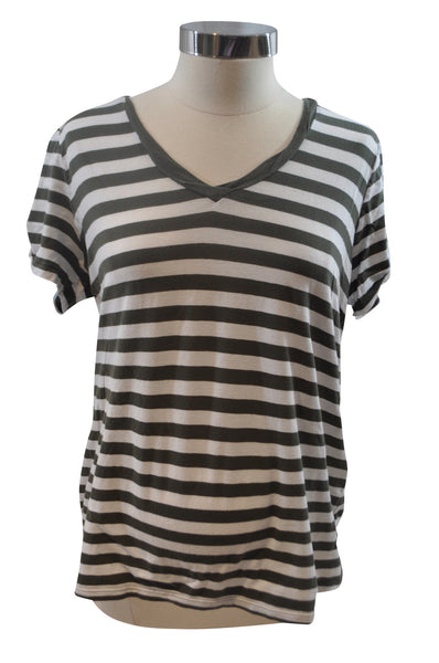Green & White Stripe T-Shirt by OH BABY!