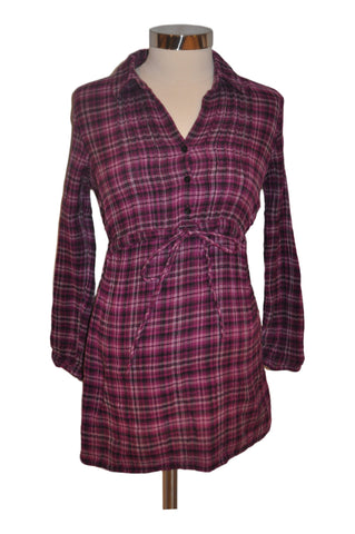 Purple Plaid Long Sleeve Top by Motherhood