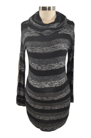 Black and Gray Stripe Long Sleeve Top by A Pea In The Pod