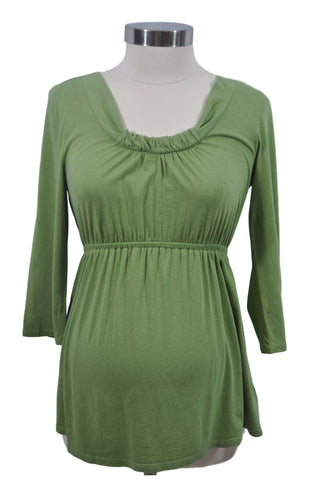 Green Long Sleeve Top by OH BABY!