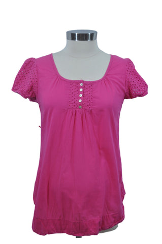 Pink Short Sleeve Top by Oh! Mama