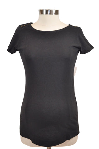 Black Short Sleeve Top by Motherhood