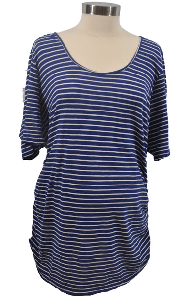 Blue & White Stripe Elbow Sleeve T-Shirt by Motherhood