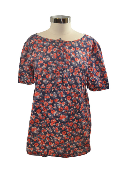 Blue Floral Short Sleeve Top by GAP