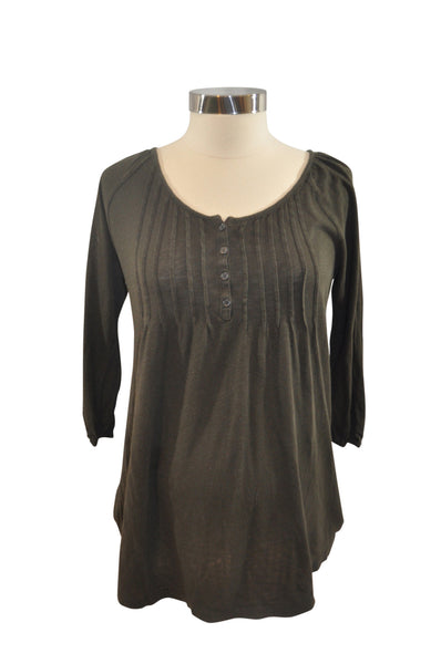 Brown Elbow Sleeve Tunic by Old Navy