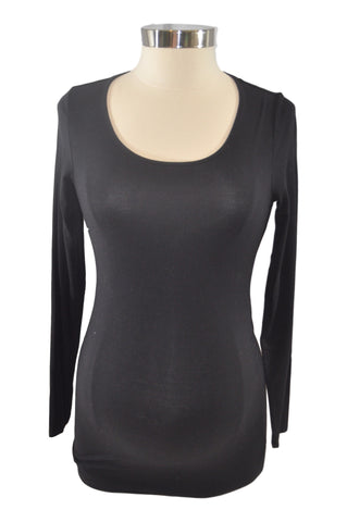 Black Scoop Neck Long Sleeve T-Shirt by A Pea In The Pod