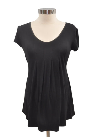 Black Short Sleeve Top by Liz Lange
