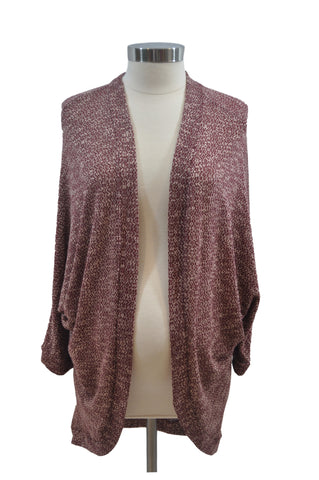 Maroon & Beige Long Sleeve Kimono by Motherhood *New With Tags*