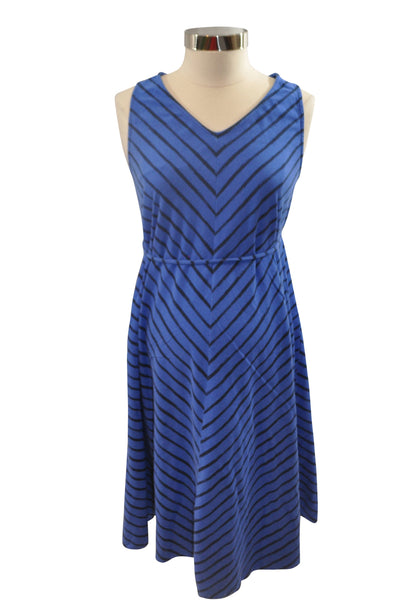 Blue & Black Sleeveless Dress by Liz Lange