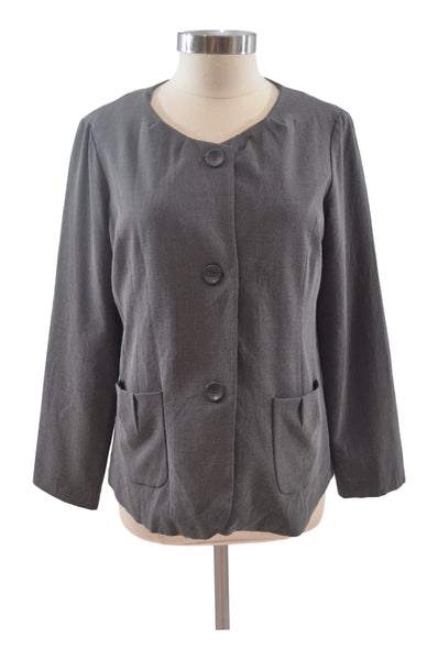 Gray Long Sleeve Blazer by Tomorrow's Mother