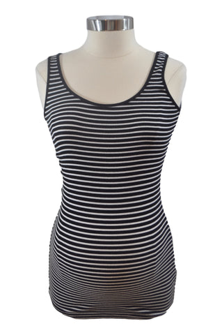 Black & White Stripe Tank Top by A Pea In The Pod