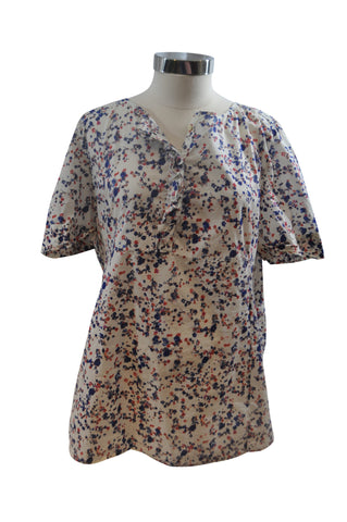 White Floral Short Sleeve Top by GAP
