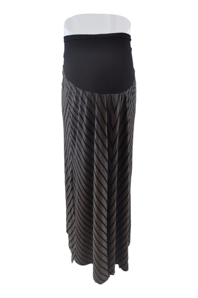 Gray & Black Stripe Maxi Skirt by OH BABY!