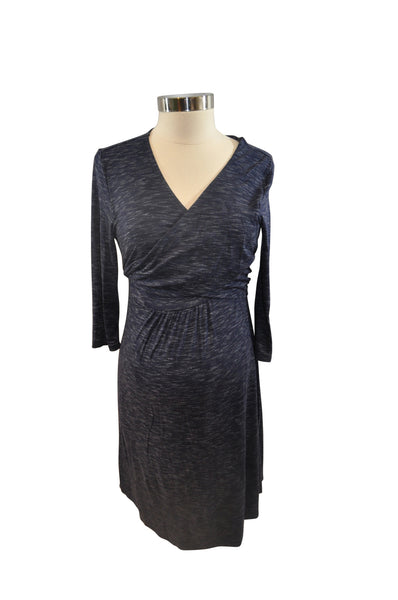 Blue Elbow Sleeve Wrap Dress by GAP