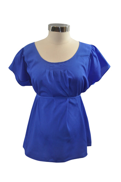 Blue Short Sleeve Blouse by Motherhood
