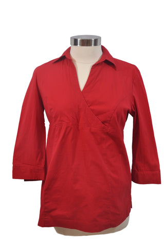 Red Collar Long Sleeve Top by Motherhood*