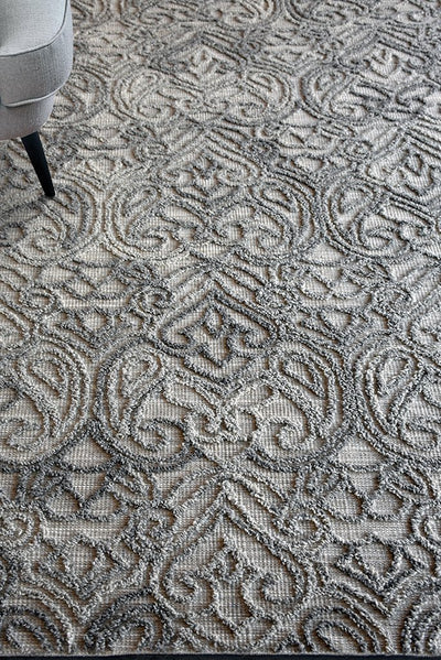 alhena wool rug in grey color