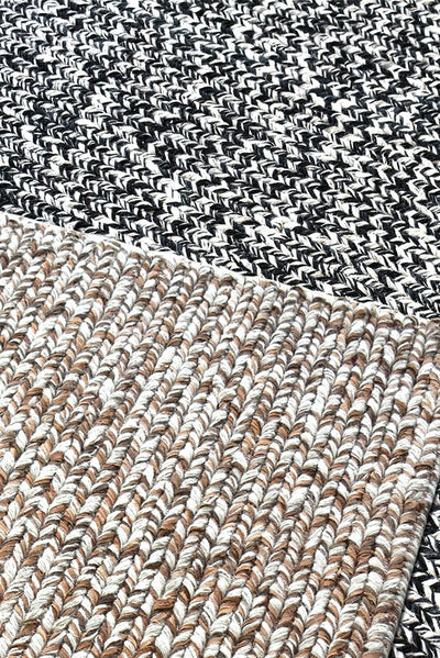 argyle wool rug in beige and ivory color