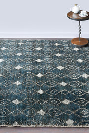 kersley hemp rug in navy color