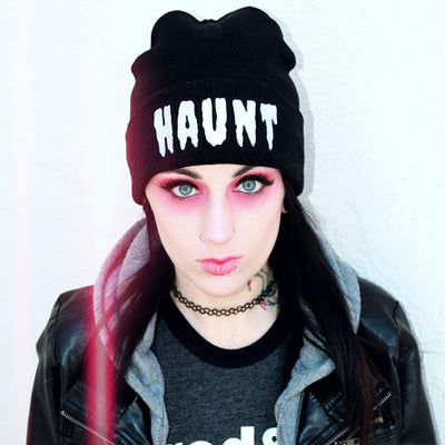 HAUNT Knit Beanie-Knit Beanies-Lovers Are Lunatics