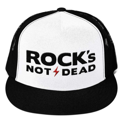 Rock's Not Dead - Mesh Back Hat - Festival Edition-Mesh Snapback Hats-Lovers Are Lunatics