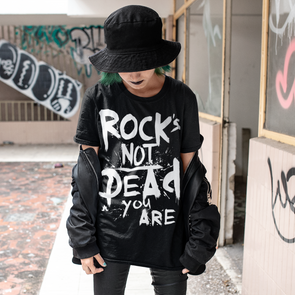 Rock's Not Dead Tee - Women's (white print)